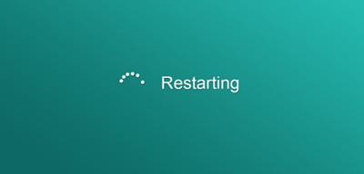 ویندوز 10, ریاستارت کردن رایانه