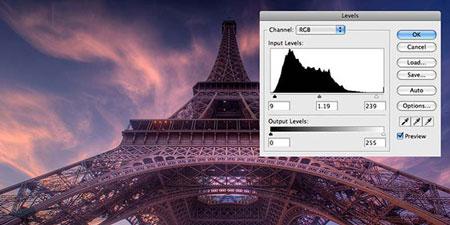 co5133 آموزش استفاده از ابزار Levels در فتوشاپ براي بهبود رنگ تصوير