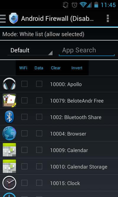 گوشی های اندروید, نصب فایروال در گوشی هوشمند