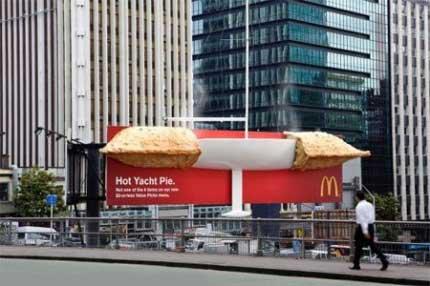 رقابت آگهی های تبلیغاتی خلاقانه و جالب مک دونالد