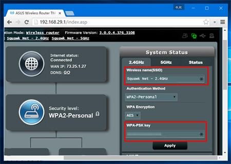 تغییر نام و پسورد شبکه وایفای, تنظیمات مودم