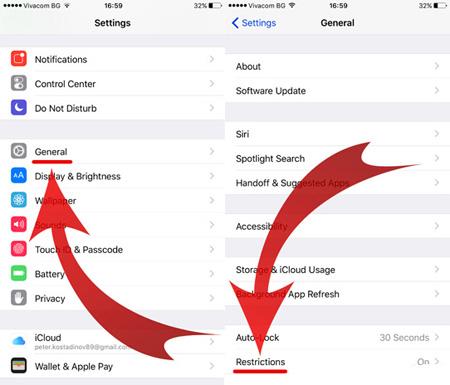جلوگیری از نصب خودکار اپلیکیشن در آیفون،آنلاک کردن گوشی