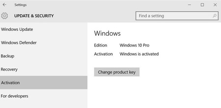 بهروزرسانی ویندوز Home , فعالسازی ویندوز 10