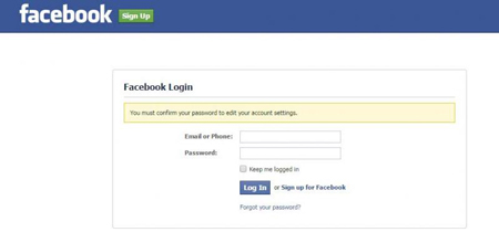 آموزش کار با فیس بوک,  تنظیمات فیس بوک