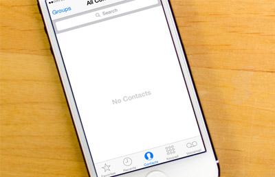 مخاطبان آیفون, حساب کاربری iCloud
