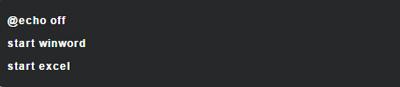 رجیستری ویندوز, فایل Batch