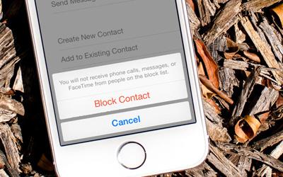 کاربران iOS, مسدود کردن مزاحم در آیفون