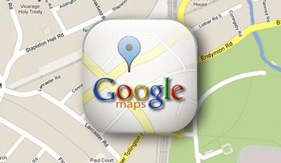 مختصات نقشه گوگل , پیمایش نقشه گوگل