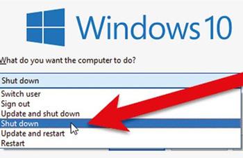 خاموشی ویندوز 10 , فایلهای بهروزرسانی ویندوز