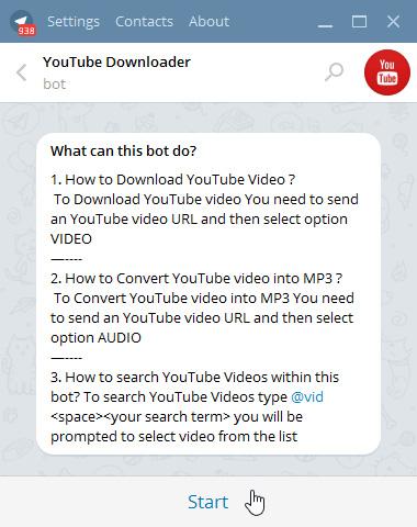 یوتیوب دانلودر معرفی ربات تلگرام ربات یوتیوب دانلودر در تلگرام ربات دانلود از یوتیوب دانلود فیلم از یوتیوب دانلود از یوتیوب ترفند های تلگرام بهترین ربات تلگرام بهترین ترفندها برنامه دانلود از یوتیوب برای موبایل