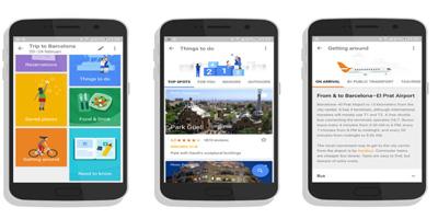 اپلیکیشن گوگل تریپز,اپلیکیشن جهانگردی گوگل تریپس