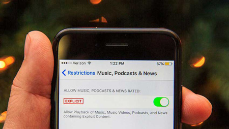 فعال کردن محدودیتهای iOS , آیپد