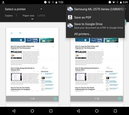 اپلیکیشن CloudPrint, اتصال گوشی به پرینتر