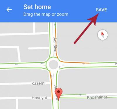 اضافه کردن آدرس به گوگل مپس , سیو کردن محل کار و خانه در گوگل مپس