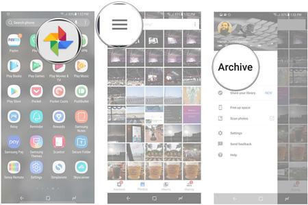 چگونگی آرشیو عکس در google photos, سرویسهای ابری