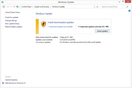 غیر فعال کردن بروزرسانی ویندوز 10 , نصب بروزرسانی ویندوز