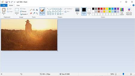 تغییر اندازه عکس با Paint شکلی سریع