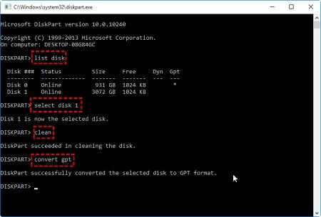 تبدیل mbr به gpt هنگام نصب ویندوز بدون حذف اطلاعات, تبدیل mbr به gpt, اموزش تبدیل mbr به gpt