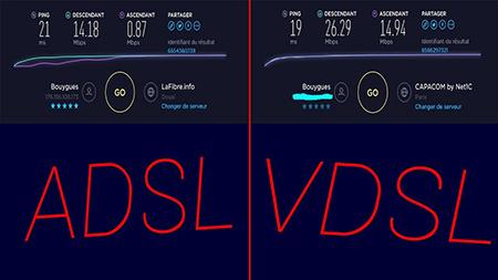 تفاوت ADSL در مقابل VDSL, تفاوت بین ADSL و VDSL