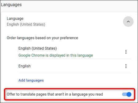 غیر فعال کردن مترجم گوگل, فعال سازی مترجم گوگل کروم ویندوز, فعال سازی مترجم گوگل کروم اندروید