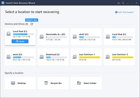 نرم افزار EaseUS Data Recovery,بازیابی سریع اطلاعات با EaseUS Data Recovery,