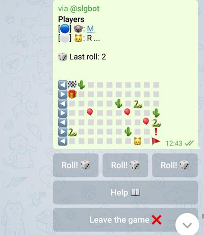 بازی مار پله در تلگرام