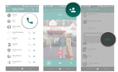 تماس صوتی و تصویری گروهی در واتس آپ, تماس گروهی در واتساپ