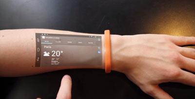 مچبندی که بازو را به صفحه لمسی تبدیل میکند
