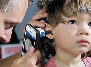 گوش,گوشی هوشمند,معاینه گوش کودکان با موبایل