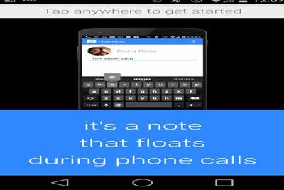 اپلیکیشن FloatNote,یادداشت برداری در حین صحبت کردن