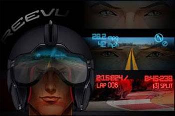 کلاه ایمنی هوشمند,نمایشگر سربالا در کلاه موتور سوارها