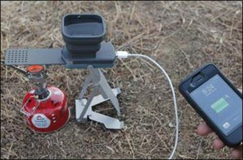 شارژر آتشی,فلیم استوور,شارژ تلفن با آتش مستقیم