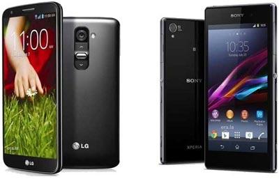 اسمارت فون Sony Xperia Z1,اسمارت فونLG G2,مشخصات اسمارت فون Sony Xperia Z1,