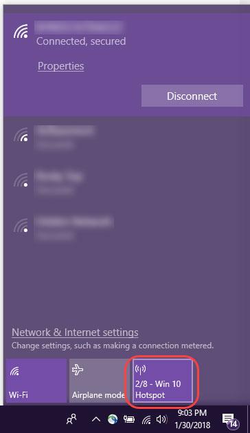 تبدیل لپ تاپ به هات اسپات, هات اسپات در ویندوز سرور
