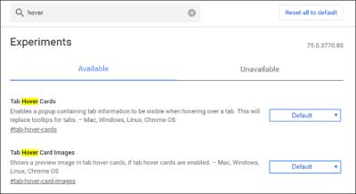 در صورتی که شما تنها تعداد انگشت شماری از تبهای باز در Google Chrome داشته باشید، به آسانی میتوانید بفهمید که آن ها چه هستند. ولی همان طور که شروع به جمع آوری تب های بیش تر می کنید( یا کوچک تر کردن پنجره)، دشوار تر می شود. این جا ، جایی است که کارت های شناور وارد می شوند ، می توانید به سادگی برای پیش نمایش تب ها کروم با گذاشتن موس روی آن مشاهده کنید..