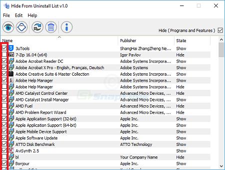 راههای پنهان کردن برنامه های نصب شده در ویندوز 10, مخفی کردن برنامه های نصب شده در ویندوز 10, نحوه ی مخفی کردن برنامه ها در ویندوز 10