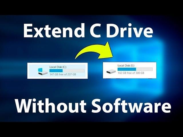 آموزش تصویری افزایش حجم درایو c در ویندوز 10