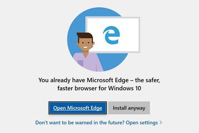 مشکل نصب مرورگر در ویندوز 10, مرورگر اِج