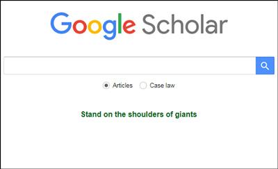 راهنمای گوگل اسکولار, نحوه جستجو در گوگل اسکولار