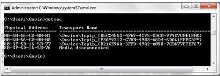 مشاهده مک آدرس از طریق خط فرمان, دانلود نرم افزار مشاهده مک آدرس