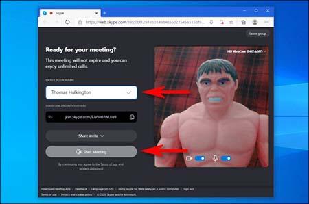 نحوه استفاده از Meet Now, استفاده از Meet Now