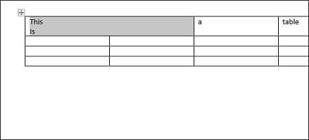 تقسیم یک جدول به دو جدول در ورد, مرتب سازی جدول در ورد, ساخت جدول در ورد