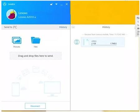 انتقال اطلاعات حجیم, انتقال فایل در گوشی