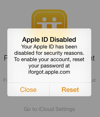 نحوه حذف اپل آیدی, فراموش کردن اپل آیدی