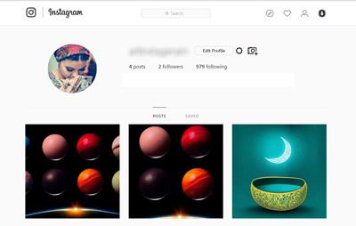 کار با اینستاگرام, پستگذاری در نسخه وب اینستاگرام