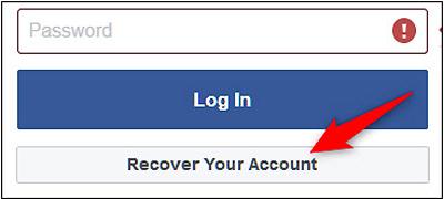 نحوه تنظیم ریکاوری پسورد فیسبوک, ریکاوری پسورد فیس بوک