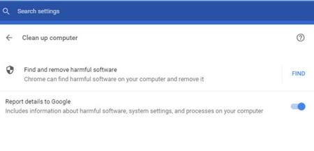 اسکنر بدافزارها در گوگل کروم, اسکنر پیشفرض کروم
