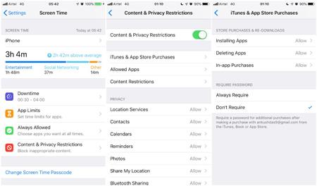 قابلیت Screen Time در iOS 12, ویژگی اسکرین تایم iOS 12