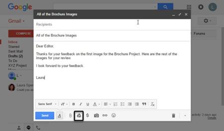 نحوه ارسال فایل حجیم با ایمیل, ارسال فایلهای سنگین با جیمیل