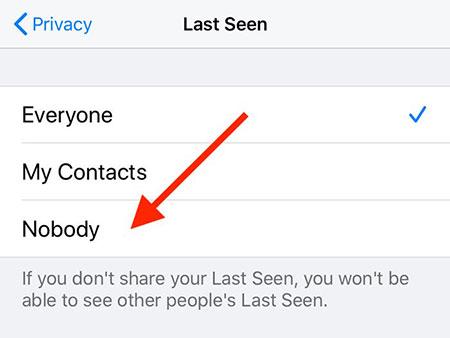 وضعیت آنلاین بودن افراد در واتس اپ, مخفی کردن وضعیت در واتساپ